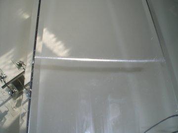 Einer der Sprünge quer über eine der 6 Spiegelflächen