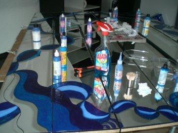 An der Größe der Glasreinflasche seht Ihr den Umfang des Projekts