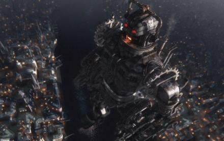 Ein riesiger Cyberman in London