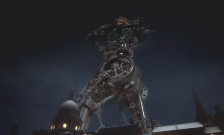 Tolle Steampunk-Elemente am Cyberman