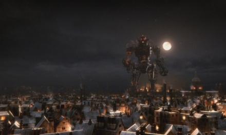 Ein Cyberman im Mondenschein