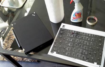 Laptop bekleben, 1. Schritt