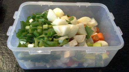 Suppengrün und andere Gemüse